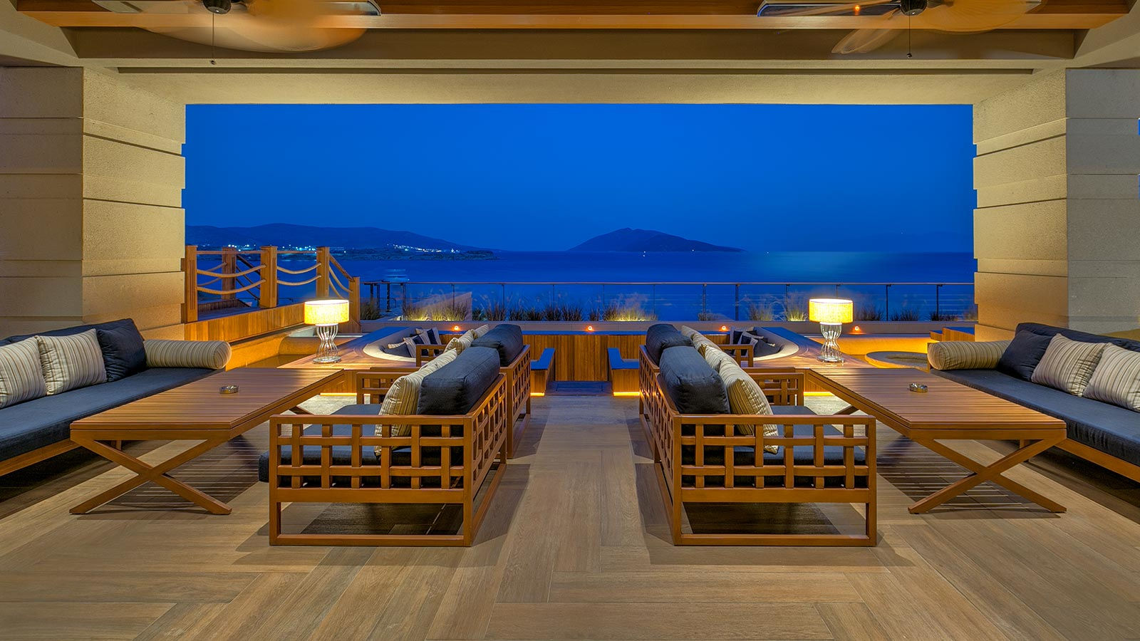 Caresse a Luxury Collection Resort Spa Bodrum Turkey Glass Restaurant and Bar